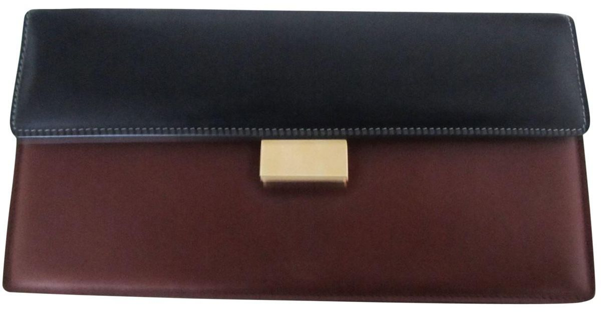 Pre-owned - Leather clutch bag Celine 6yWt9y0