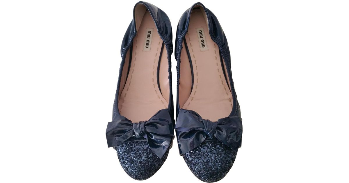 Pre-owned - LEATHER BALLET SLIPPERS Miu Miu