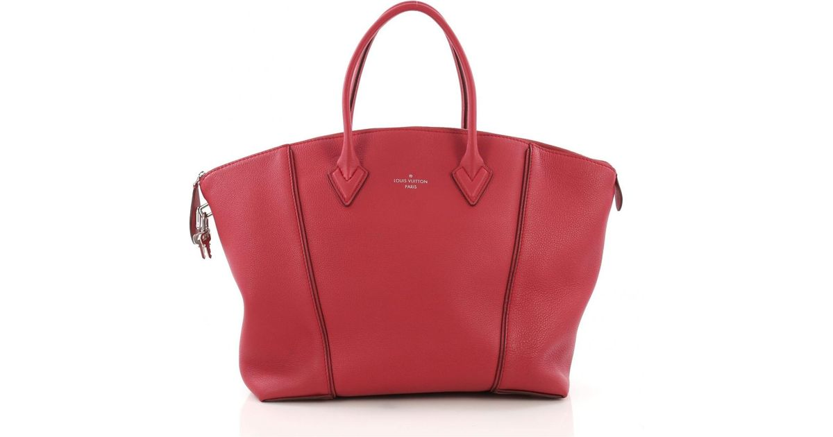 6ff697086206 Lyst - Louis Vuitton Pre-owned Lockit Pink Leather Handbags in Pink