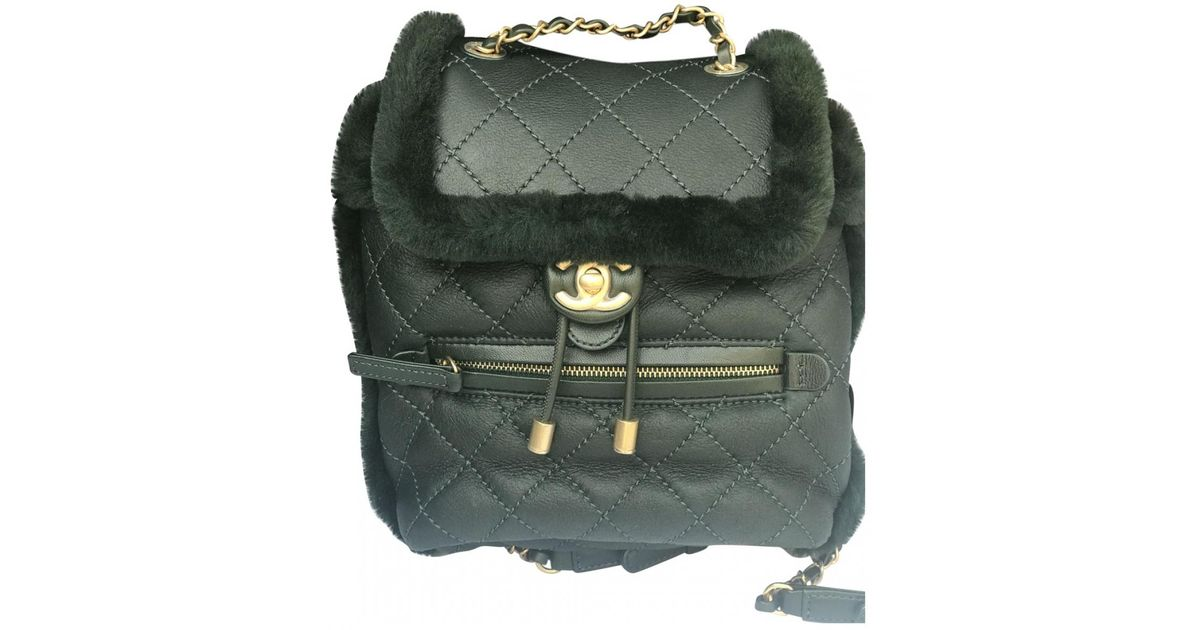 1249c786e78b Lyst chanel pre owned green leather backpacks in green jpeg 1200x630 Chanel  backpacks for women