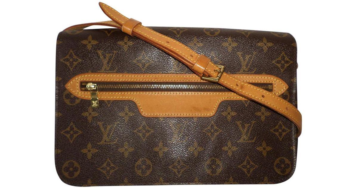 41e08b92e01c Louis Vuitton Cloth Crossbody Bag in Brown - Lyst