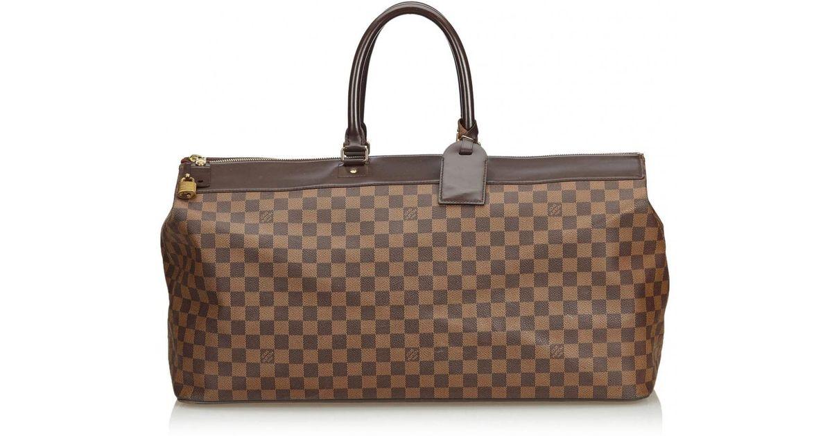 3214c22b27d Louis Vuitton Greenwich Cloth Handbag in Brown - Lyst
