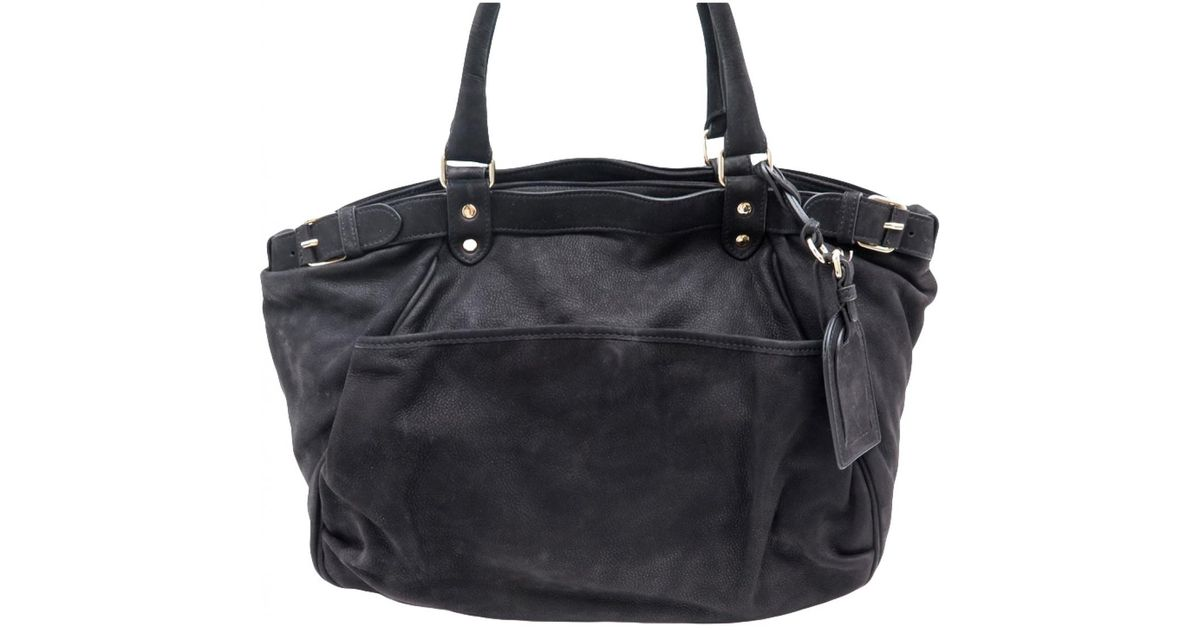 b3e3cf6af5e3 Vanessa Bruno Lune Leather Handbag in Black - Lyst