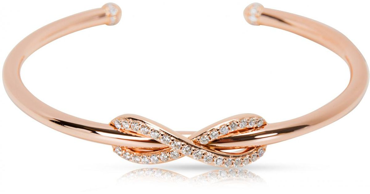 bed2922ff Tiffany & Co. Tiffany Infinity Other Pink Gold Bracelets in Pink - Lyst