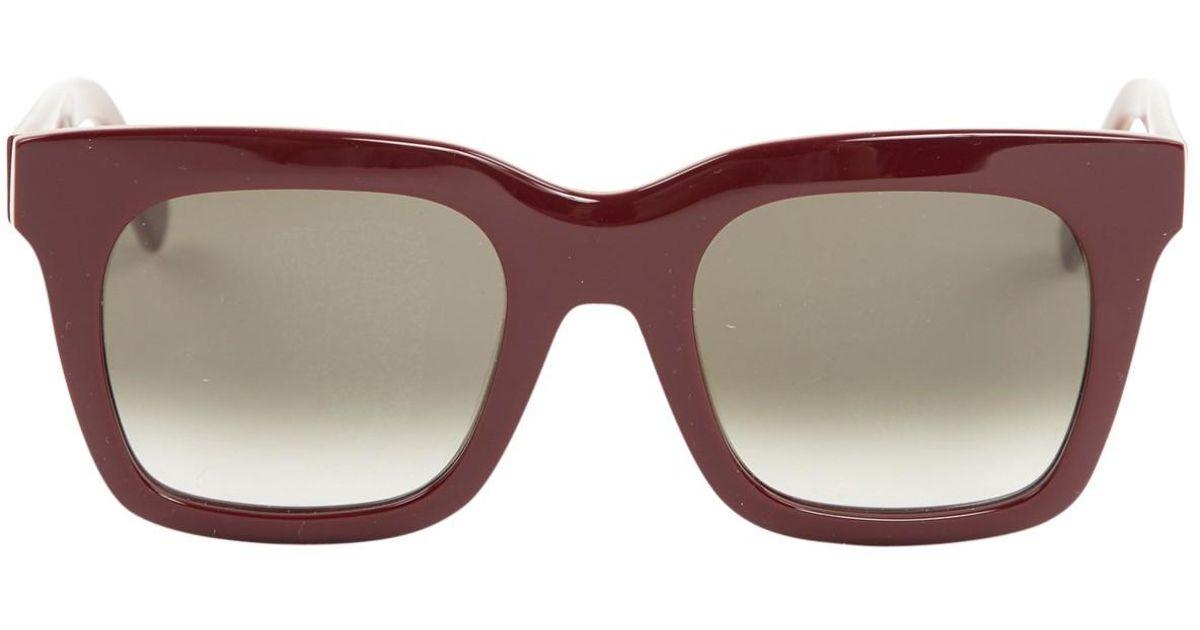0aa8c76fad06b Céline Luca Burgundy Plastic Sunglasses - Lyst