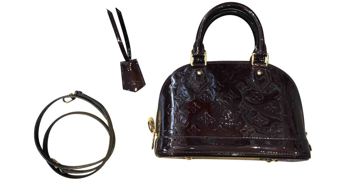 ac3e1124f56 Lyst - Louis Vuitton Alma Bb Patent Leather Crossbody Bag in Black