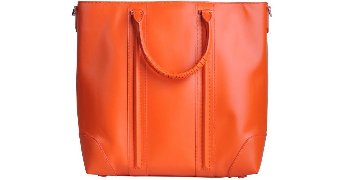 e64cd4526ef2 Lyst - Givenchy Lucrezia Orange Leather Handbag in Orange