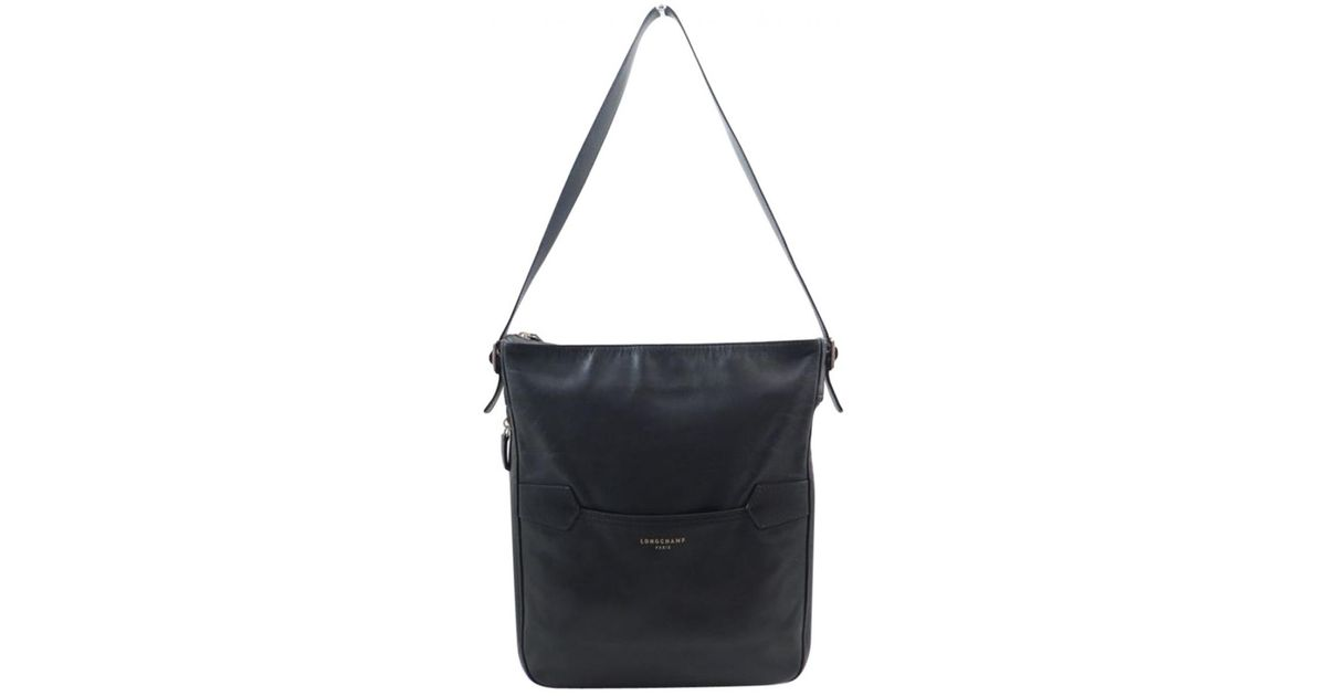 Longchamp Pre-owned Black Leather Handbags in Black - Lyst 84a95d708722d