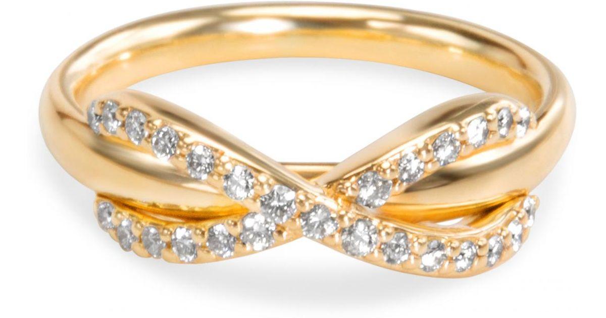 30d478968f085 Tiffany & Co. Tiffany Infinity Gold Yellow Gold Ring in Metallic - Lyst