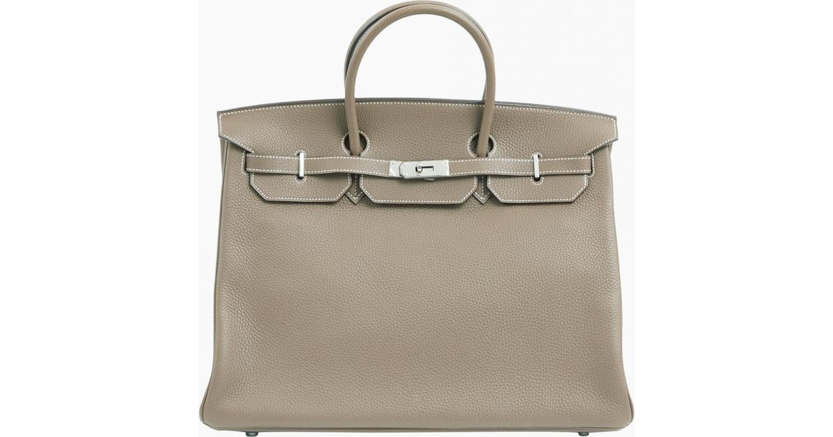 84d82ea14b Lyst - Hermès Pre-owned Birkin 40 Leather Handbag in Brown