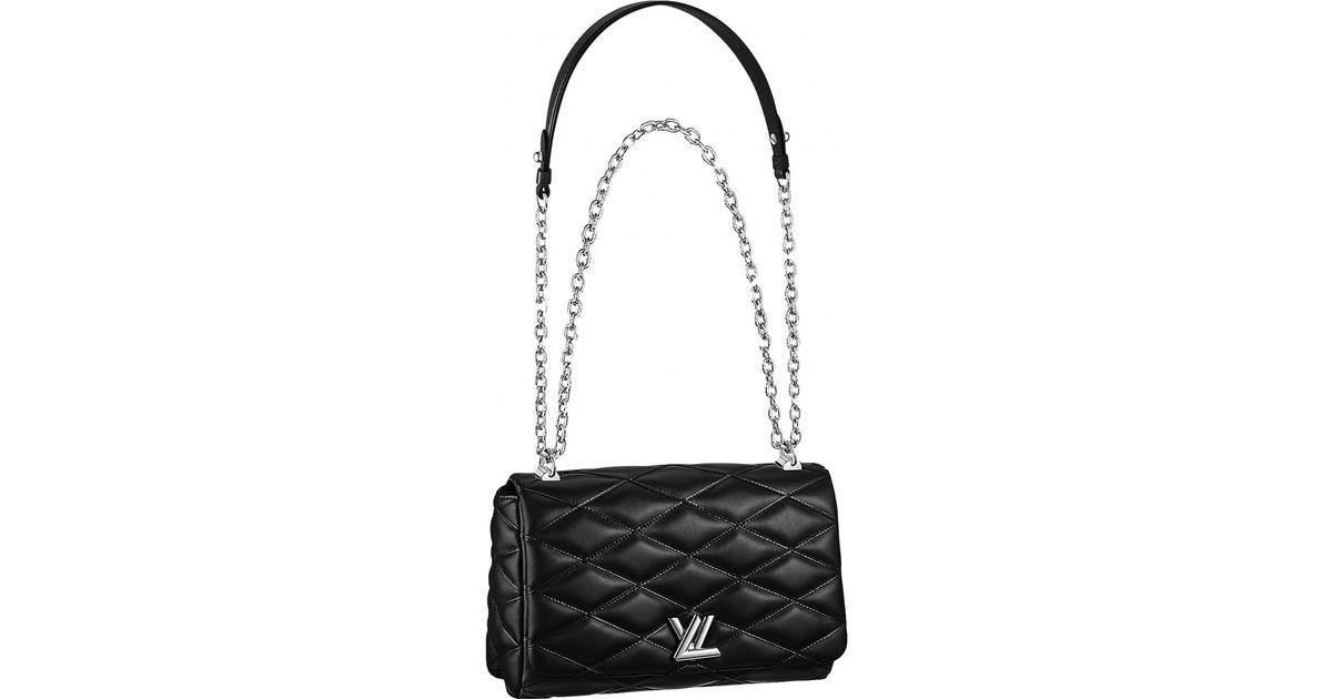 Lyst Louis Vuitton Twist Leather Crossbody Bag In Black
