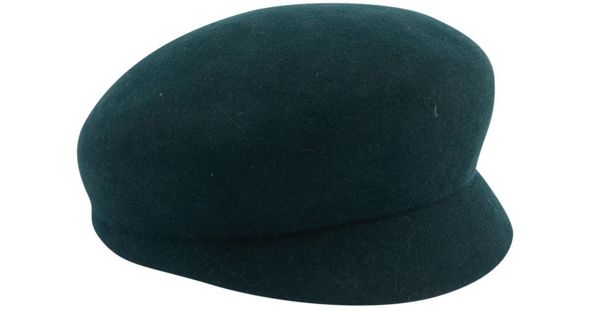 e0c83707c4b61 Chanel Wool Beret in Green - Lyst