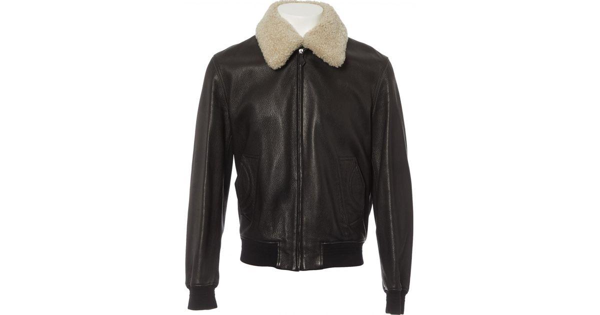 Lyst - Blouson en cuir Hermès pour homme en coloris Marron ef7d708693a