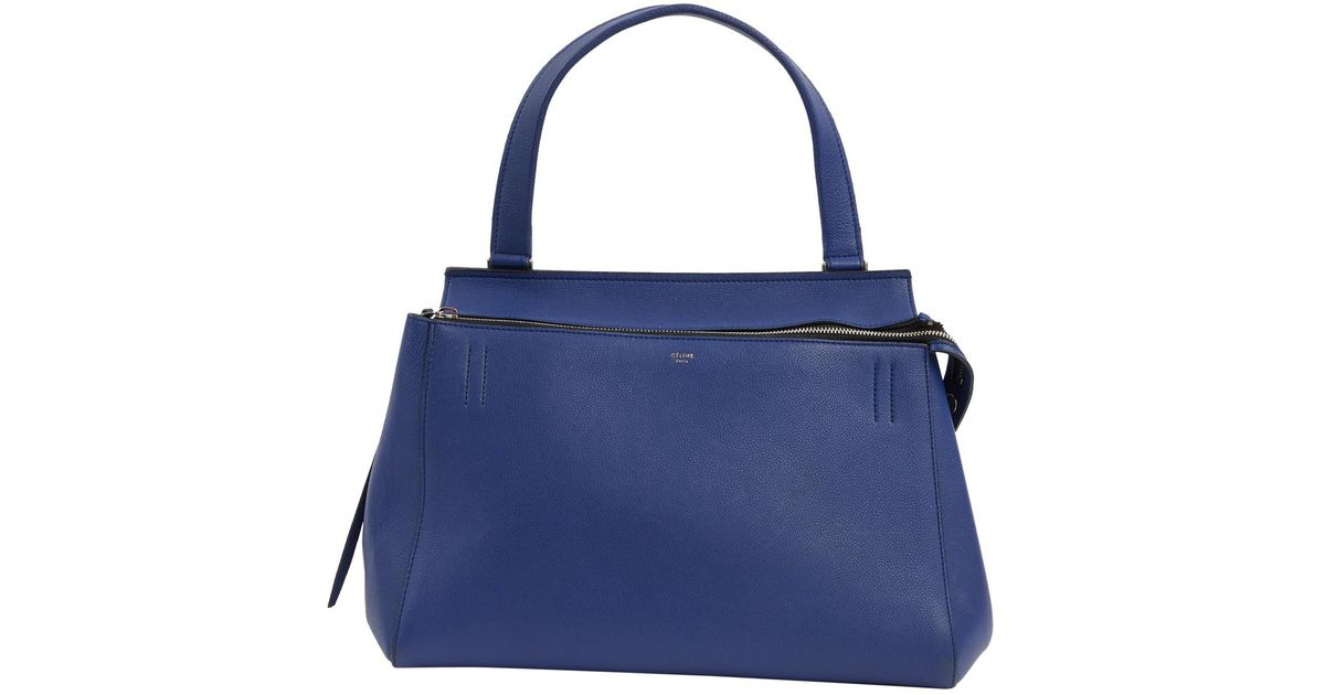 06ab6ab6b35d Céline Edge Leather Bag in Blue - Lyst