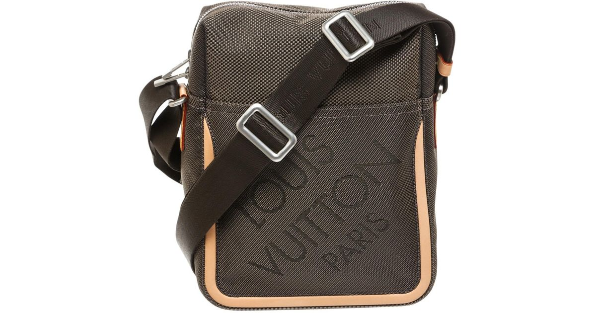 a07e76cfd564 Lyst - Louis Vuitton Pre-owned Crossbody Bag in Gray