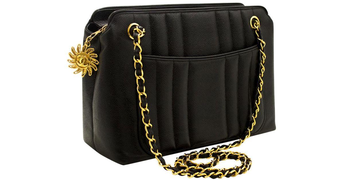 9c680f14a269 Chanel Camera Leather Crossbody Bag in Black - Lyst