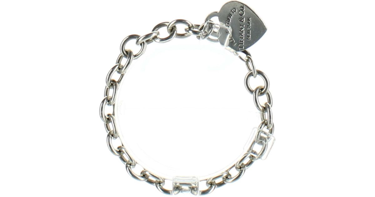 1af0789ec Tiffany & Co. Women's Metallic Pre-owned Return To Tiffany Silver Silver  Bracelets