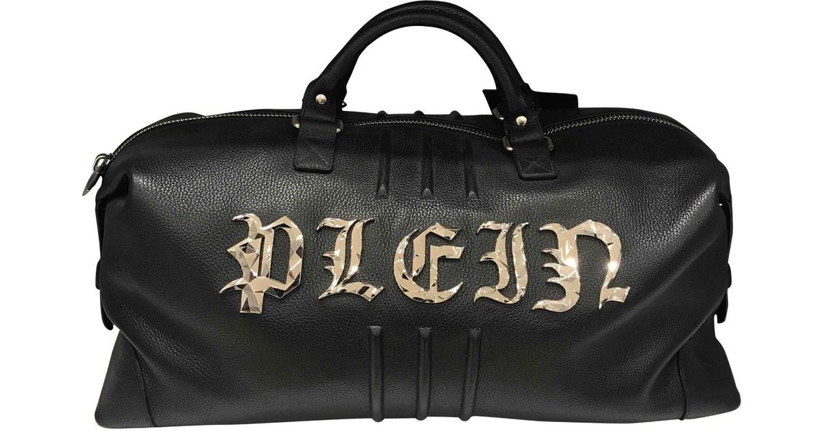 6cf5dd0d1a Lyst - Philipp Plein Leather Weekend Bag in Black for Men
