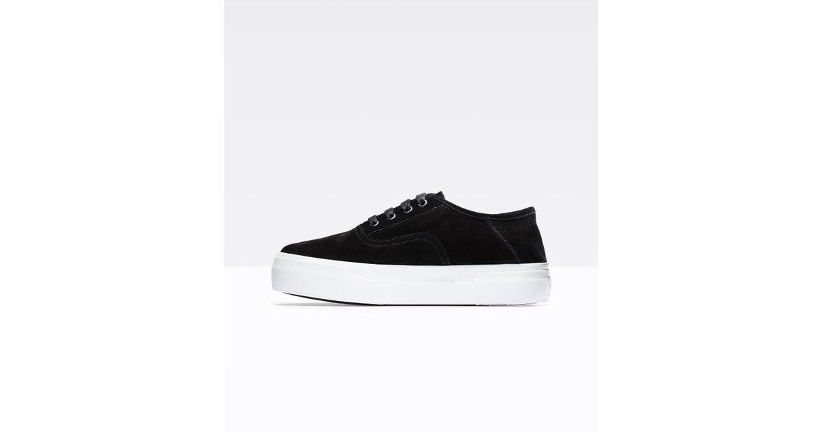 654d41a297d Lyst - Vince Copley Suede Sneaker in Black