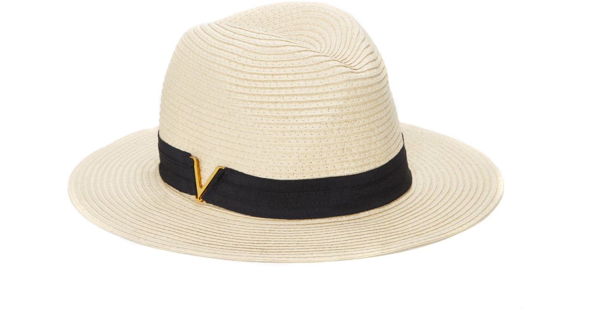 d83e9998884 Lyst - Vince Camuto V Ribbon-band Straw Hat in Natural