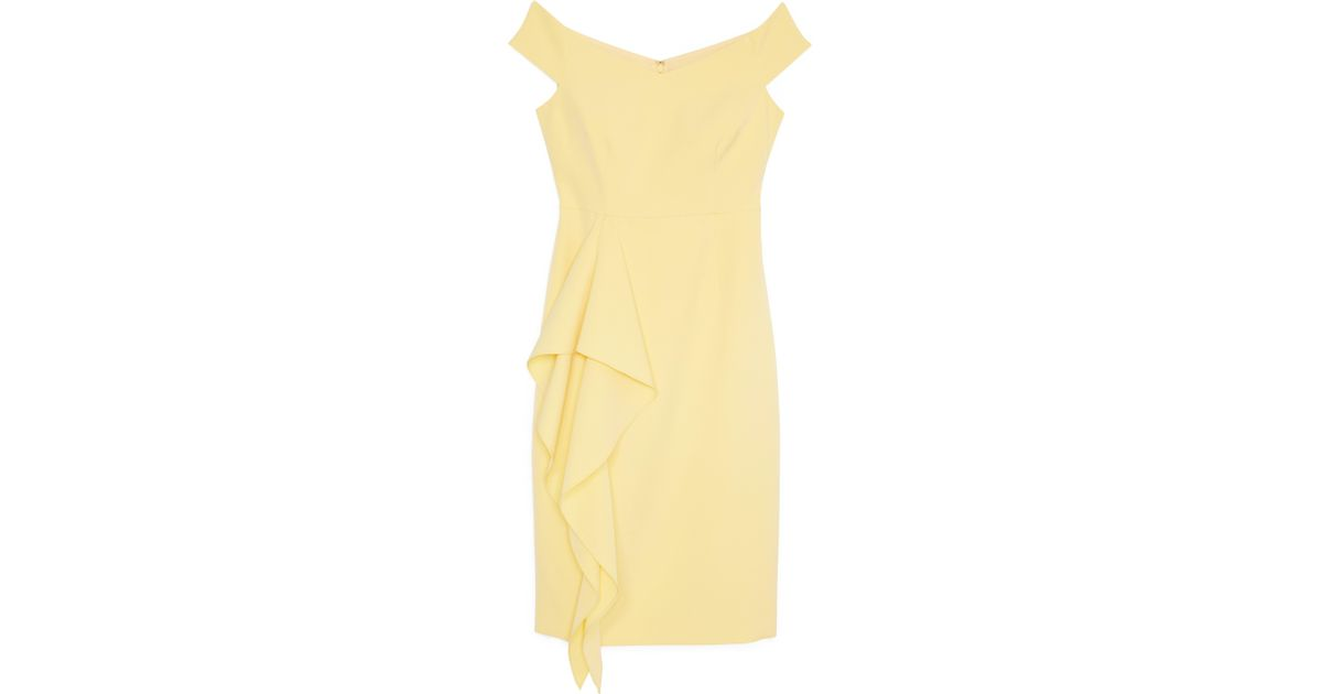 2e16273cf02 Lyst - Vince Camuto Cascading-ruffle Dress in Yellow - Save 29%