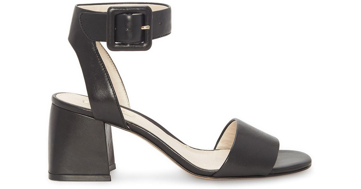 52c56a0f406 Lyst - Vince Camuto Louise Et Cie Kaden – Ankle-buckle Sandal in Black -  Save 42%