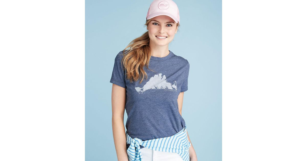 0b311a7a9 Lyst - Vineyard Vines Martha's Vineyard Island Graphic Tee in Blue