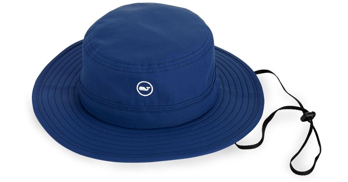Lyst - Vineyard Vines Whale Dot Performance Bucket Hat in Blue for Men 505be780158