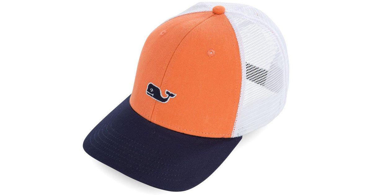 c147d75296a55 Lyst - Vineyard Vines High Profile Whale Logo Trucker Hat for Men