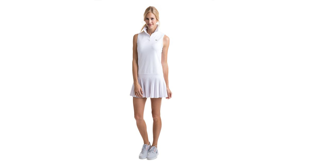 479c1604a1 Vineyard Vines Pleated Tennis Dress in White - Lyst