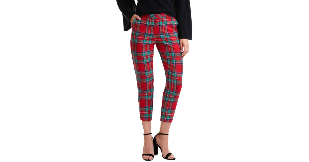cbc5d86661 Lyst - Vineyard Vines Jolly Plaid Cocktail Pants in Red