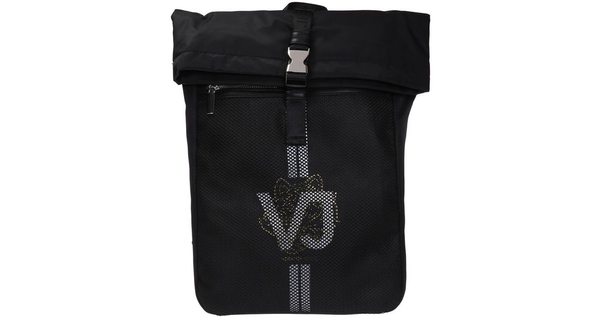 98067bb757 Lyst - Versace Jeans Branded Backpack in Black for Men