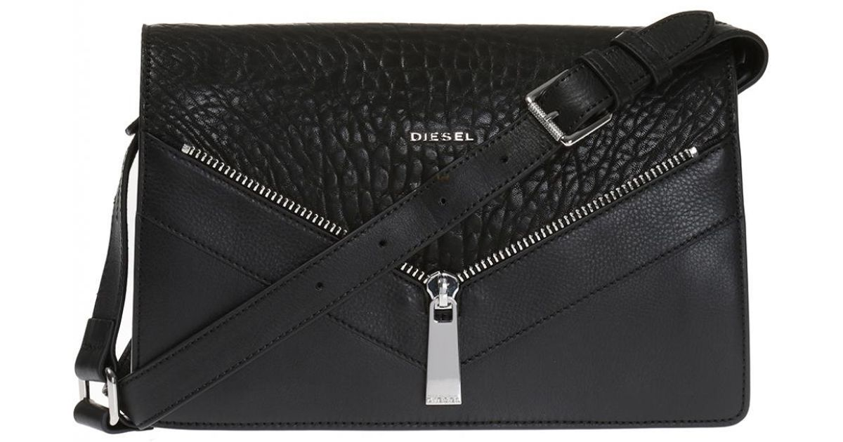 Lyst - DIESEL  le-misha  Shoulder Bag in Black d5d5d960672f2