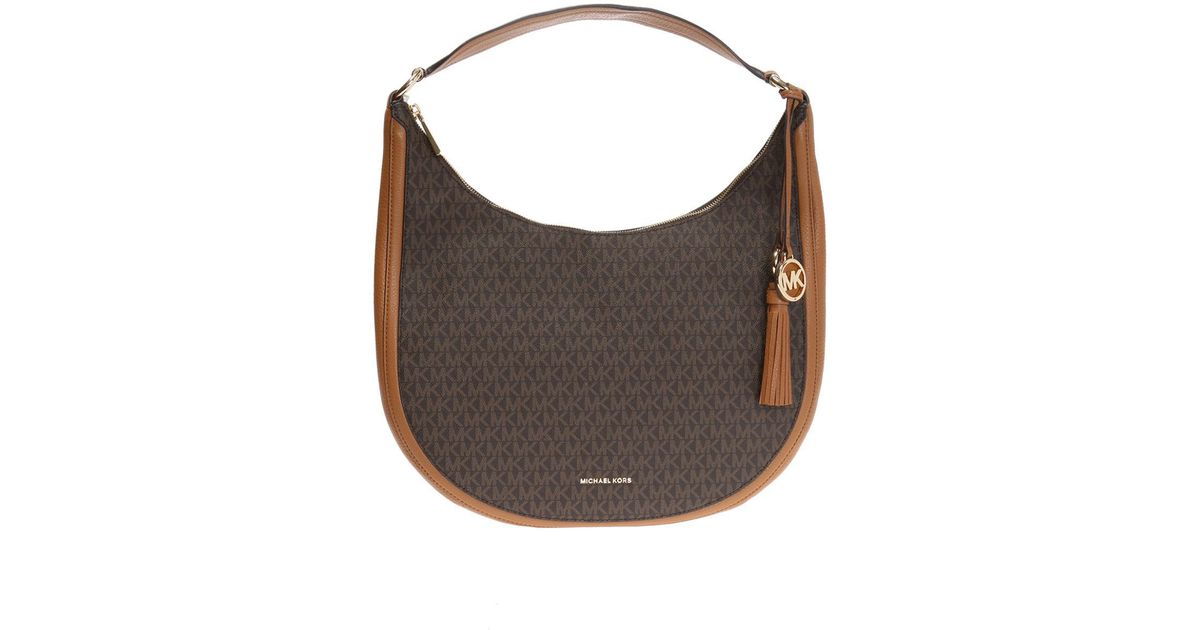 98c53a18c6cc Michael Kors  lydia  Shoulder Bag in Brown - Lyst