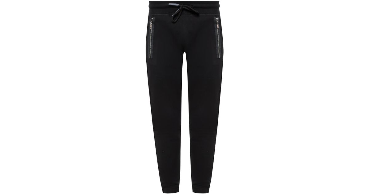 d0e1b8f4d Moncler Drawstring Sweatpants in Black for Men - Lyst