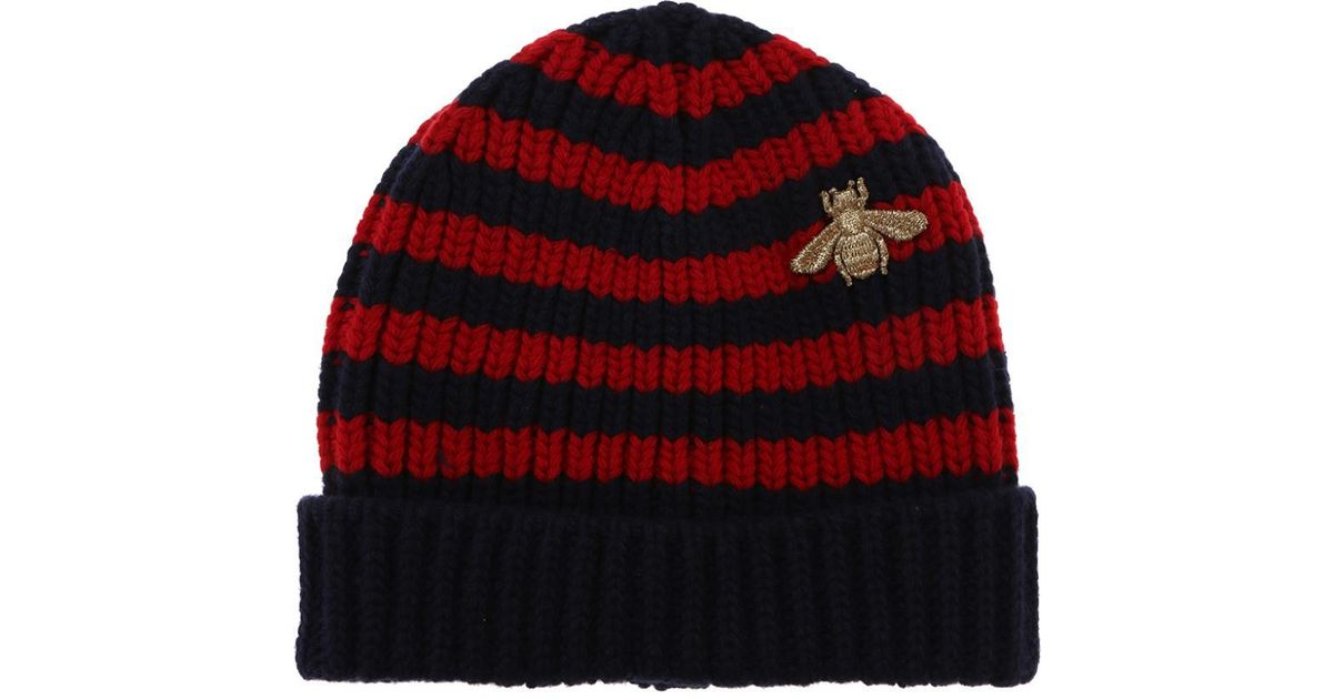 bfa7f4e88a7 Gucci Striped Hat in Red for Men - Lyst