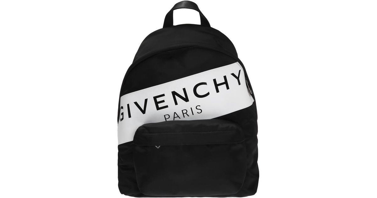 Lyst - Givenchy Branded Backpack in Black for Men a67012033e11e