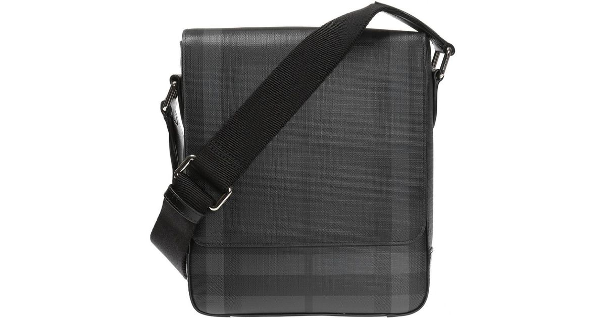6691a12c92e0 Lyst - Burberry  london Check  Patterned Shoulder Bag in Black for Men -  Save 8.611599297012305%