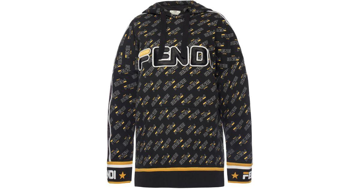 97b1ad389 Lyst - Fendi Logo-printed Sweatshirt in Black