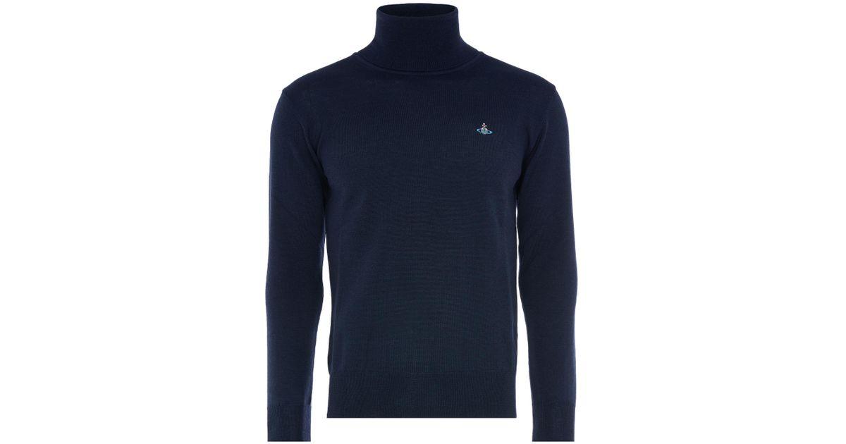 11d7221e73d6d Vivienne Westwood Fine Turtleneck Jumper Navy in Blue for Men - Lyst