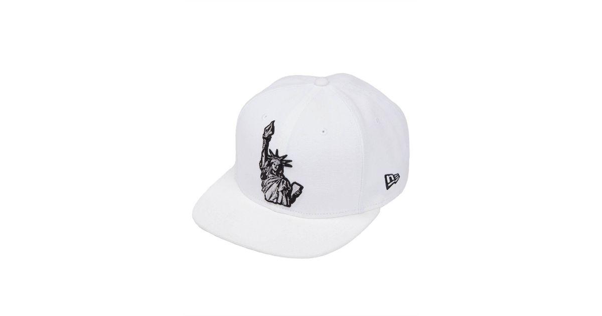... authentic lyst volcom liberty hat in white for men da2c7 b3d30 e997fb29d755