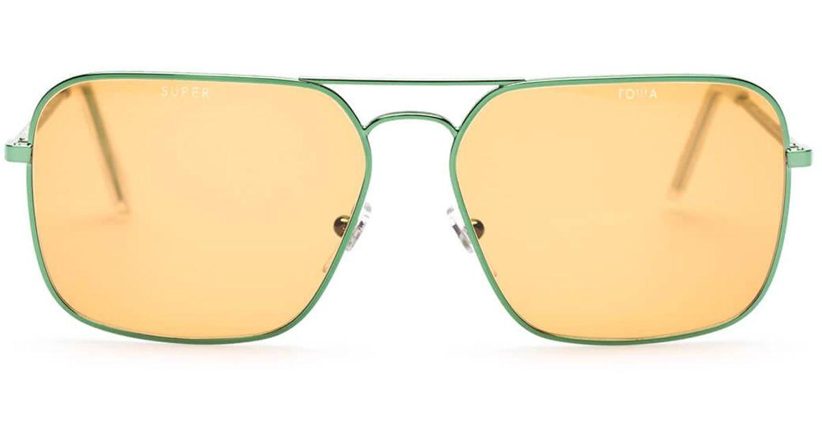 eec439bbc17 Lyst - Gosha Rubchinskiy Super Mens Iggy Sunglasses in Green for Men