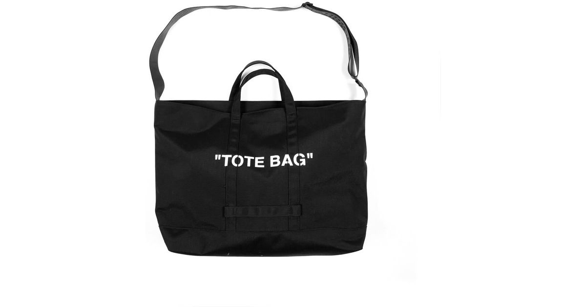 9398e4b3cdfc Lyst - Off-White c o Virgil Abloh Quote Tote Bag in Black for Men