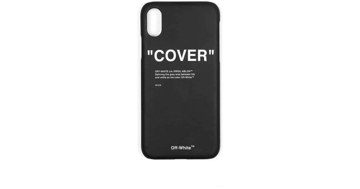 fb5d5c2618cd Lyst - Off-White c o Virgil Abloh Iphone 8 Quote Case in Black for Men