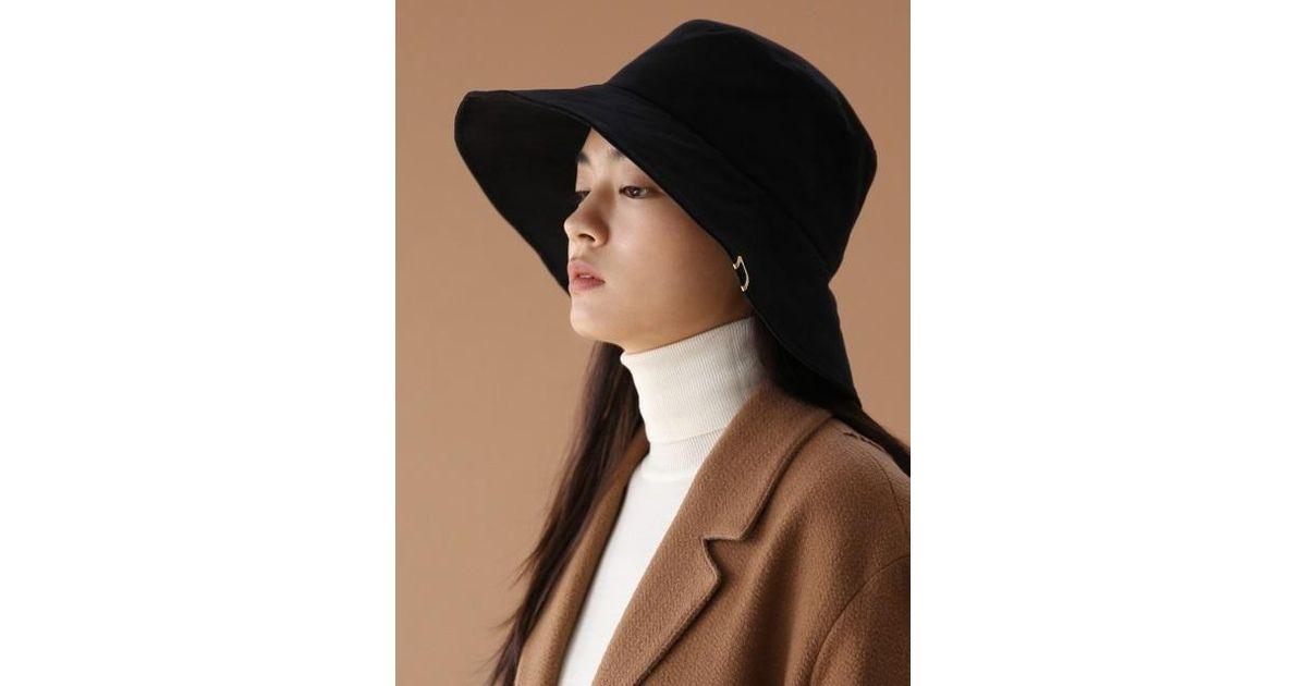 Lyst - UNDERCONTROL STUDIO Umbrella Hat - Bio - Brush Black in Black 20d605a8c1b