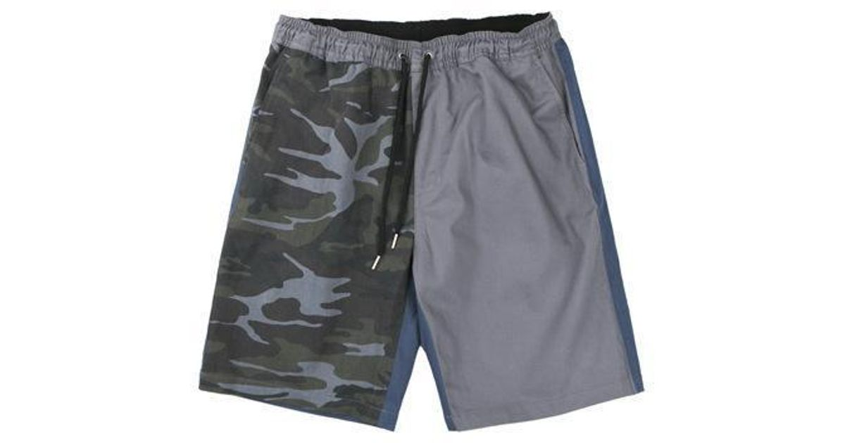 74b3ac07a W Concept Color Mix Band Shorts Grey in Gray for Men - Lyst