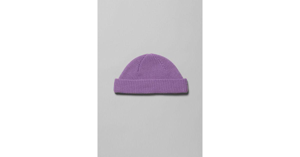 Weekday Stan Beanie in Purple for Men - Lyst 6febb1474c9