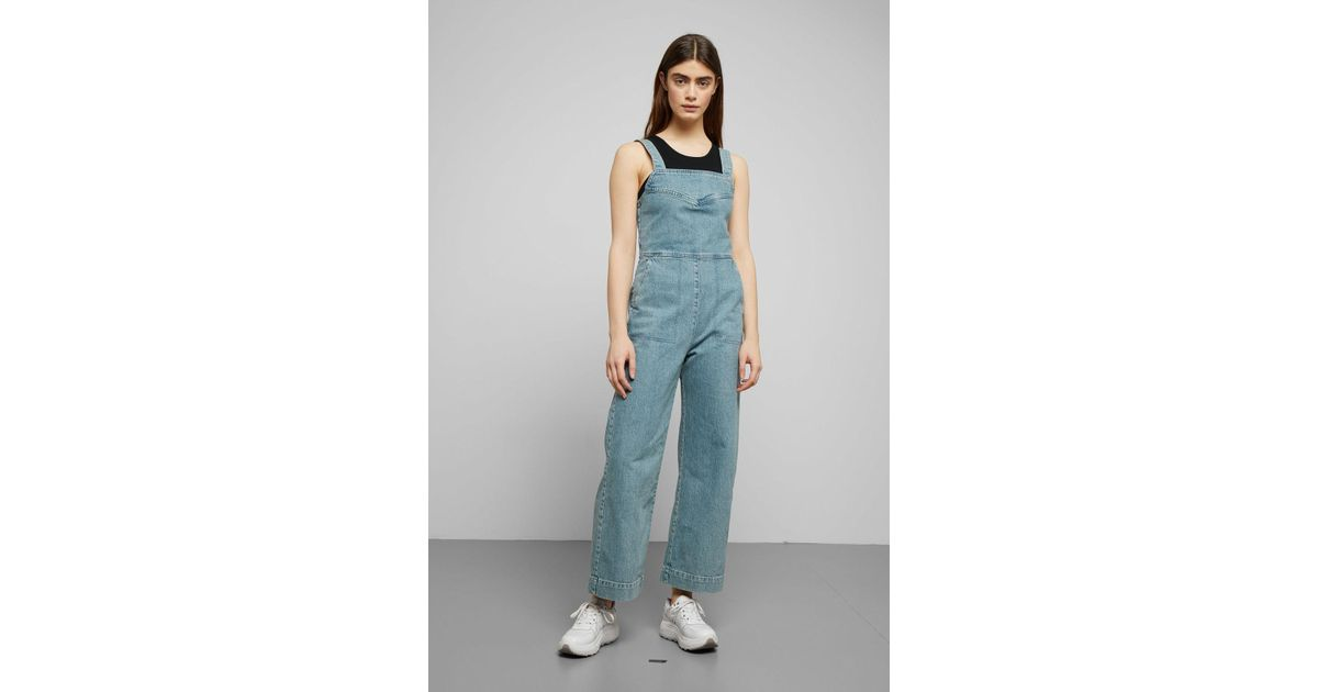 hot-selling clearance skate shoes release info on Weekday Junip Seven Blue Denim Jumpsuit