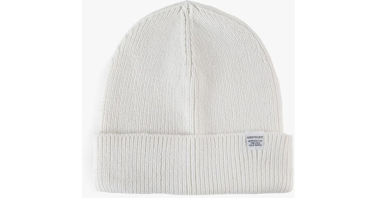 d3bca7f489f Lyst - Norse Projects Cotton Watch Beanie in White for Men
