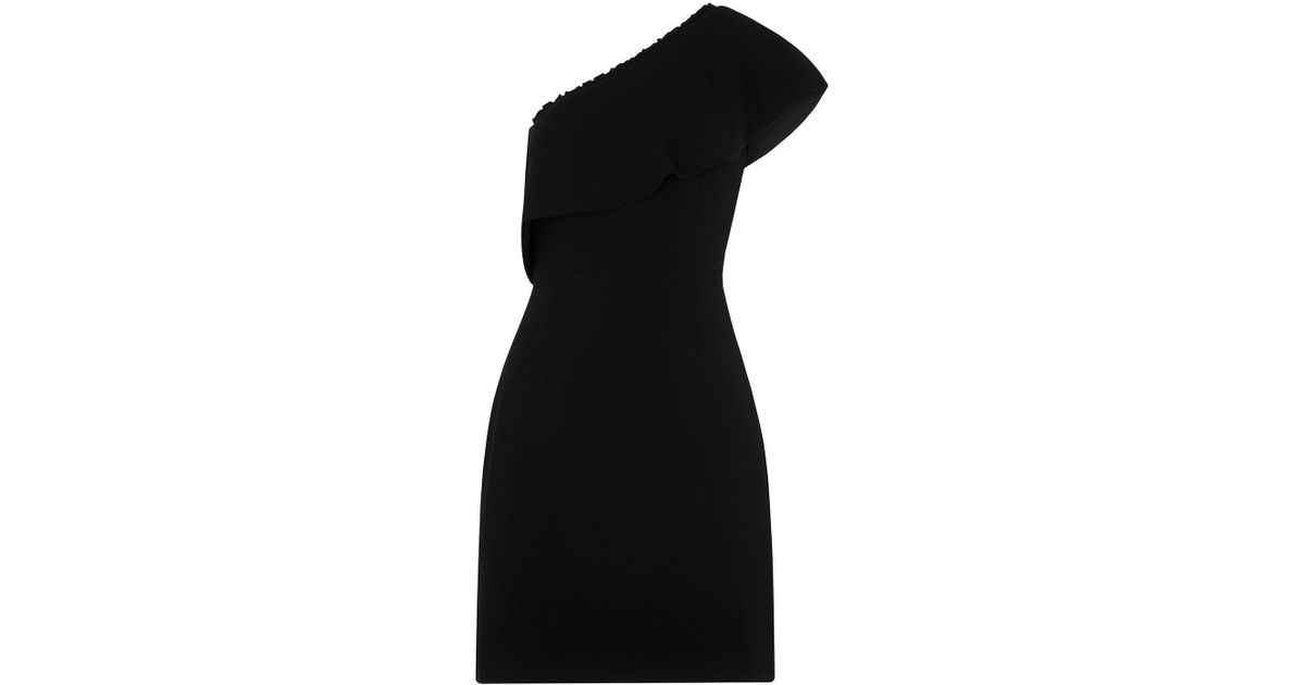 a28be25b77930 Lyst - Whistles Teagan One Shoulder Dress in Black